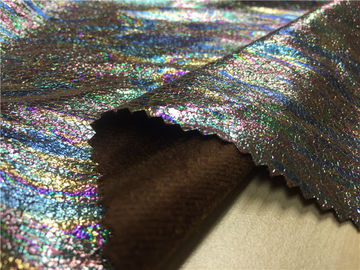 0.35mm Suede Garment leather Fabric Lamination With Flowing Light And Color